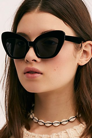 Extreme Cat Eye Sunglasses by Free People