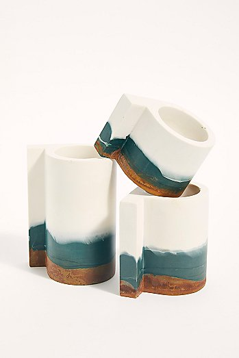 Ceramic Candle Holder Set