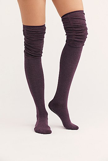 Charlie Ruched Over-The-Knee Socks