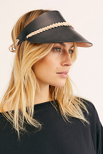 Curi Braided Leather Visor