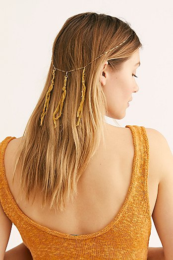 Waterfall Fringe Chain Headpiece