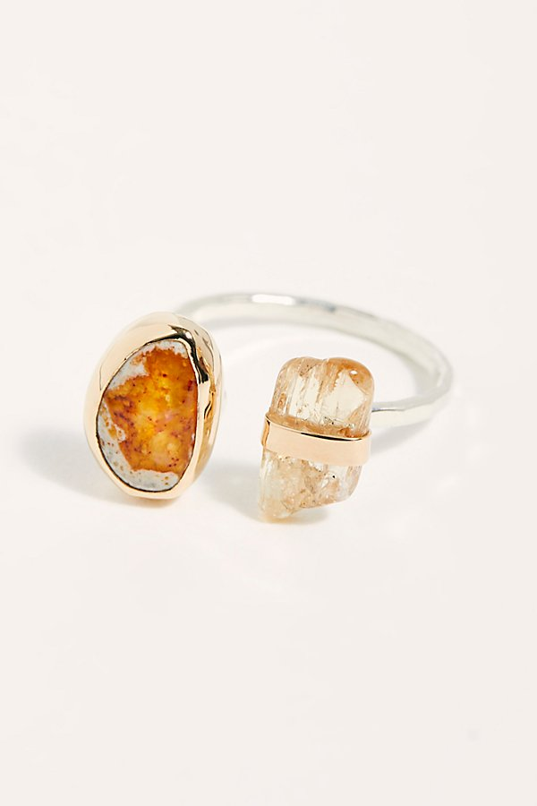 Slide View 1: Mexican Jelly Opal Topaz Ring