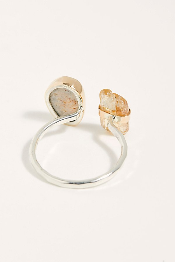 Slide View 2: Mexican Jelly Opal Topaz Ring