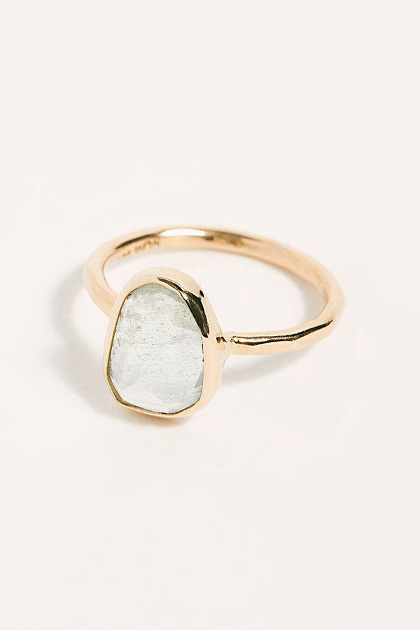 Slide View 1: Aquamarine Solitare Ring