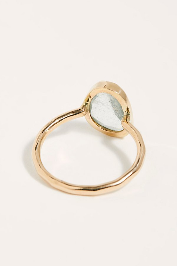 Slide View 2: Aquamarine Solitare Ring