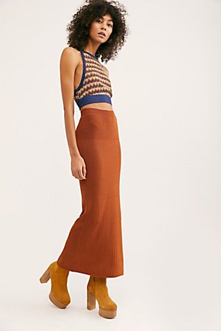 All The Ribs Maxi Skirt by Free People