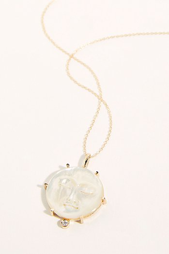 14k Lunar Dreams Pendant Necklace