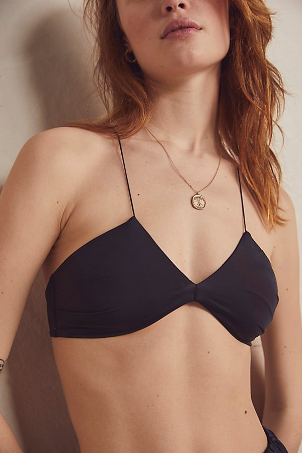 An update to your everyday bra, this so sultry style features a V-neckline and curved bottom hem that hugs the bust, with a strappy crisscross back* Elastic back band* Soft lined cups* Ultra-thin straps